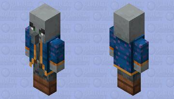 New Illusioner (Credits By Zozo-Zrob)  (For Bedrock And Java!) Minecraft Mob Skin