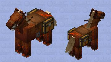 THE BLOODY FERAL HORSE IT IS GOING TO EAT YOU!!!!! Minecraft Mob Skin