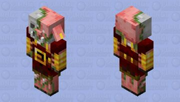 zombie armored piglin with helmet (minecraft dungeons) Minecraft Mob Skin