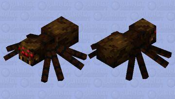 Barking Brown Spider Minecraft Mob Skin