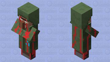 Bloody Herobrine Villager Minecraft Mob Skin