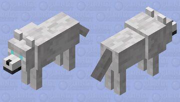 Winter Wolf Minecraft Mob Skin