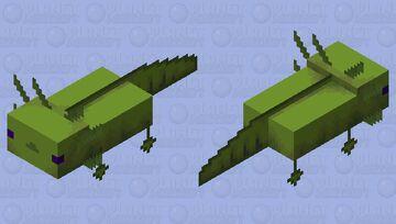 Multipixel moss axolotl Minecraft Mob Skin