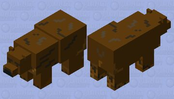 Brown Bear Minecraft Mob Skin