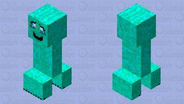 Cute Creeper Minecraft Mob Skin