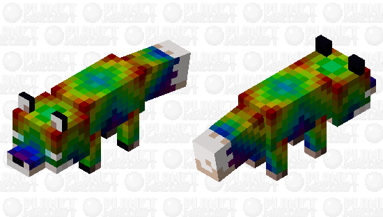 The Rare Rainbow Fox! Minecraft Skin
