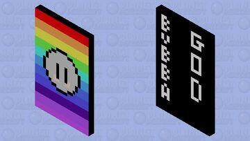Bubba Rainbow Cape Minecraft Mob Skin