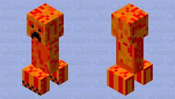 Blaze Creeper(Fiery Creeper) Minecraft Mob Skin