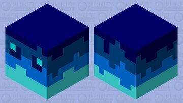 multi blue slime Minecraft Mob Skin