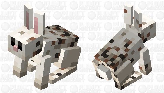 freckled rabbit (minecraft earth) Minecraft Skin
