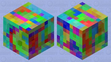 Rainbow Cube Minecraft Mob Skin