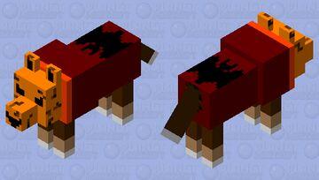 Lunes estilo Haloween con mascara de calabaza Minecraft Mob Skin