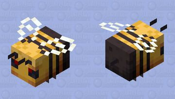 Improved Bee (Angry) Minecraft Mob Skin