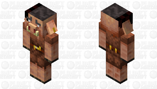 Female piglin Minecraft Skin