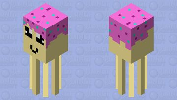 Candy Squid Minecraft Mob Skin