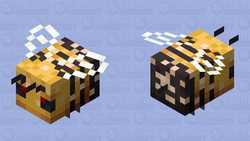 Improved Bee (Nectar Angry Bee) Minecraft Mob Skin