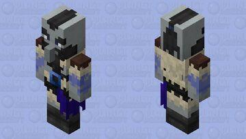 Illager barbarian / re-texturing / lapis lazuli level / read the description Minecraft Mob Skin
