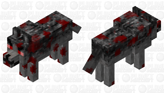 Angry Bloody Wolf Minecraft Skin