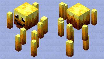 Happy Blaze Minecraft Mob Skin