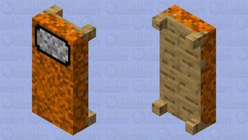 Amogsus Orange Bed Minecraft Mob Skin