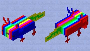 rainbow axolotl Minecraft Mob Skin