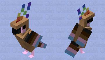 """The modern pride flag"" Parrot : Pride flag mobs #23 Minecraft Mob Skin"