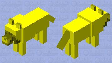 Golden Wolf Minecraft Mob Skin