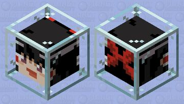 Yukkuri Reimu in glass Minecraft Mob Skin