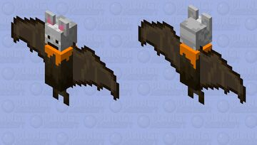 Australian grey headed Flying bat Minecraft Mob Skin
