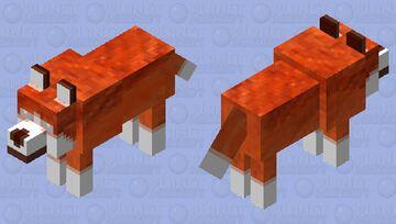 Fire wolf 7 Minecraft Mob Skin
