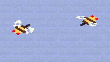 Bee / Angry / original size Minecraft Mob Skin