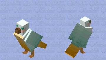 Pastel Collection: Yellow Belly Seagull Minecraft Mob Skin