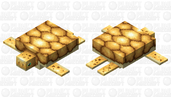 Golden turtle for the golden event Minecraft Skin