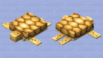 Golden turtle for the golden event Minecraft Mob Skin