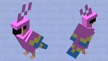 Pink Parrot Minecraft Mob Skin
