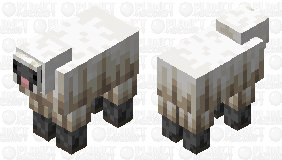 The Sheep (Remade) (Goat Style) Minecraft Skin