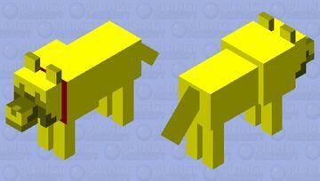 Tamed Golden Wolf Minecraft Mob Skin