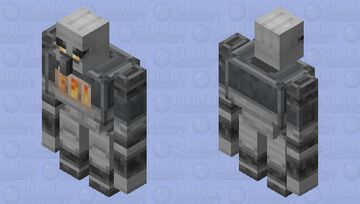 Golem Iron / of the group illager / re-texturing / Clean / without plants Minecraft Mob Skin