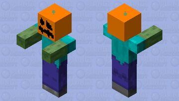 Pumpkin Head Zombie(Request) Minecraft Mob Skin