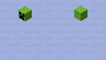 Tiny Floating Creeper Head Minecraft Mob Skin