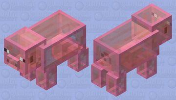 Glass Pig Minecraft Mob Skin