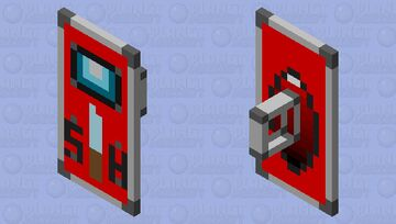 Shield - Red Among Us Minecraft Mob Skin