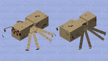 Improved Cave Spider Model Minecraft Mob Skin