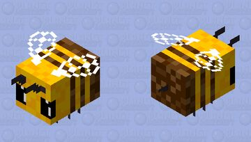 Bee Retextured HD Minecraft Mob Skin