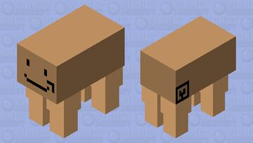Amazon Box Man Minecraft Mob Skin