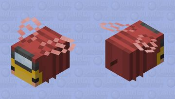 Red Among Us Bee! Minecraft Mob Skin