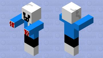 Sans is looking difrent to day Minecraft Mob Skin