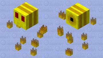 fire bee Minecraft Mob Skin