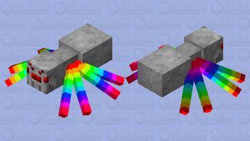 Rainbow spider Minecraft Mob Skin
