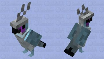 Crested Coua Minecraft Mob Skin